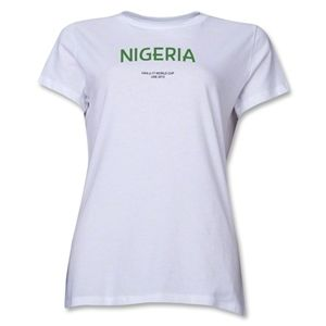 Nigeria 2013 FIFA U 17 World Cup UAE Womens T Shirt (White)