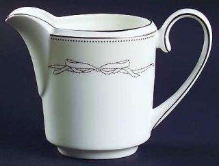 Wedgwood Love Knots Creamer, Fine China Dinnerware   Vera Wang,Bow On Gray,Plati
