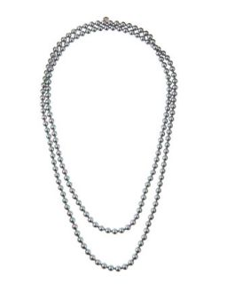 Long Gray Pearl Necklace, 60L