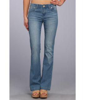 Buffalo David Bitton Ferria Mid Rise Flare Jean in Blue Vintage Womens Jeans (Blue)