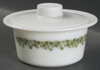 Corning Spring Blossom Butter Tub & Lid, Fine China Dinnerware   Corelle,Green &