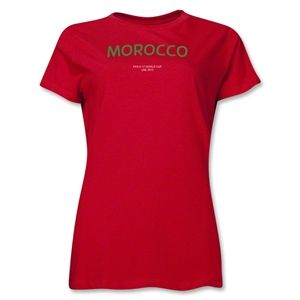 Morocco 2013 FIFA U 17 World Cup UAE Womens T Shirt (Red)