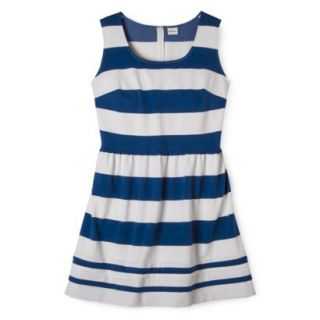 Merona Womens Plus Size Short Sleeve Ponte Dress   Black/Cream 3X
