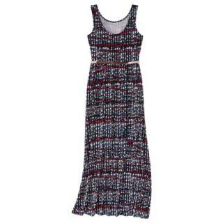 Merona Womens Maxi Dress w/Belt   Xavier Navy   XXL