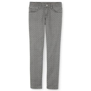 Total Girl Gray Diamond Print Skinny Jeans   Girls 6 16 and Girls Plus, Girls