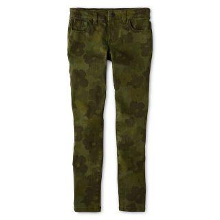JOE FRESH Joe Fresh Camo Skinny Jeans   Girls 4 14, Green, Green, Girls