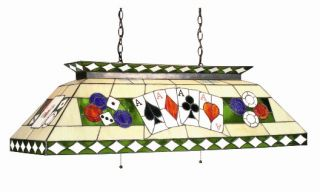 Poker Stained Glass Pool Table Light