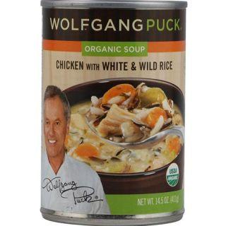 Wolfgang Puck Organic Soup Free Range Chicken /w White & Wild Rice   14.5 oz