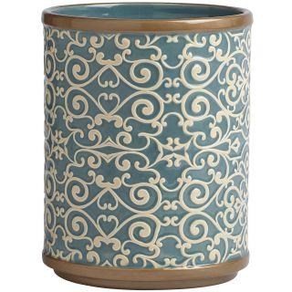 Croscill Classics Grayson Wastebasket, Blue
