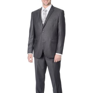 Caravelli Mens Slim Fit Grey Vested Suit