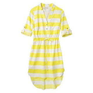 Merona Womens Drawstring Shirt Dress   Striped   M