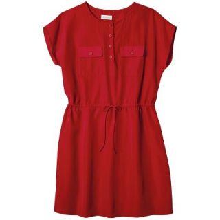 Merona Womens Woven Tie Waist Dress   Wowzer Red   S
