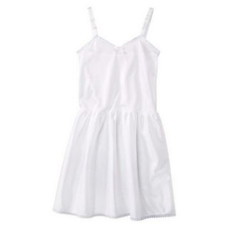 Girls Nylon Full Slip   White 4