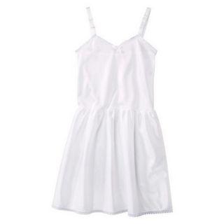 Girls Nylon Full Slip   White 4