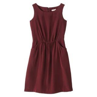 Merona Womens Woven Drapey Dress   Berry Cobbler   L