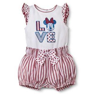 Disney Newborn Girls 2 Piece Minnie Mouse Set   White/Red 3 6 M