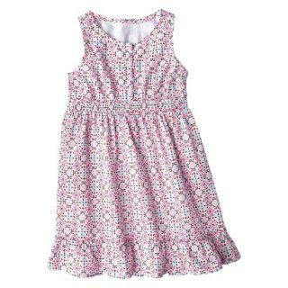 Girls Sleeveless Button Front Shirt Dress   Multicolor XL