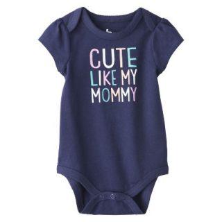 Circo Newborn Girls Cute Like Mommy Bodysuit   Blue 6 9 M