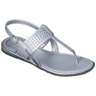 f82a8972f5600 Girls Rachel Shoes Jordan Thong Sandals Silver 4 on PopScreen