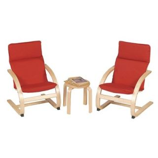 Kids Table and Chair Set Guidecraft Kiddie Table and 2 Chair Set   Red/Natural