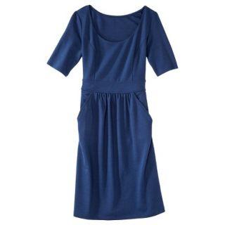 Merona Womens Ponte Elbow Sleeve Dress w/Pockets   Waterloo Blue   XL