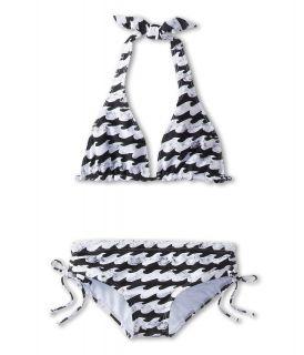 Billabong Kids Wave Halter Set Girls Swimwear Sets (Black)