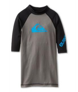 Quiksilver Kids All Time S/S Surf Shirt Boys Swimwear (Gray)