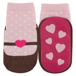 Luvable Friends Infant Girls Mary Jane Sock   Pink 12 18 M