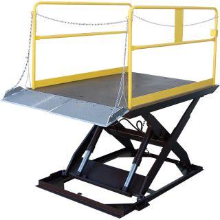 Vestil Scissor Dock Lift   Electric/Hydraulic, 6000 lb. Capacity, 120 Inch L x