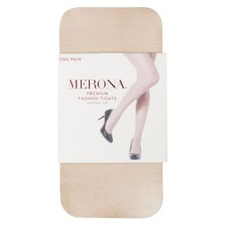 Merona Womens Control Top Sheer Tights   Light Sparkle Nude M/L