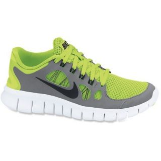 Nike Free 5.0 Running Shoes  Boys,  VOLT/COOL Grey/PURE PLATI,  Kids 4