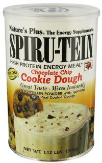 Natures Plus   Spiru Tein High Protein Energy Cookie Dough   1.12 lbs.