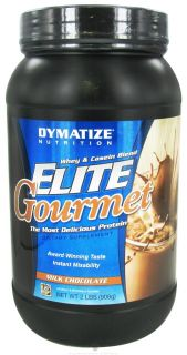 Dymatize Nutrition   Elite Gourmet Protein Whey & Casein Blend Powder Milk Chocolate   2 lbs.