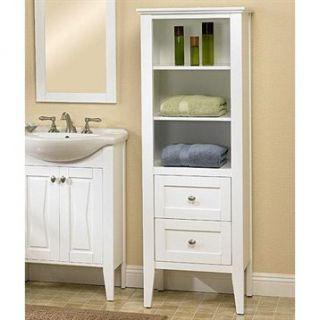 Fairmont Designs Lifestyle Collection Bowtie Linen Tower   White