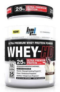 BPI Sports   Whey HD Ultra Premium Whey Protein Powder Milk & Cookies   2.31 lbs.