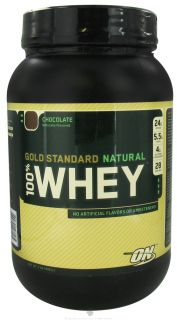 Optimum Nutrition   100% Whey Gold Standard Natural Protein Chocolate   2 lbs.
