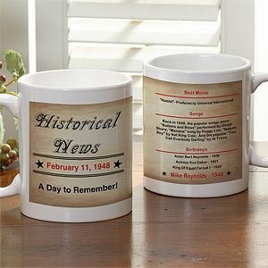 Personalized Birthday Coffee Mugs   The Day You Were Born