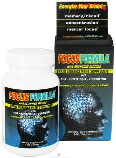 Windmill Health Products   Focus Formula Brain Enhancement Supplement   120 Caplets