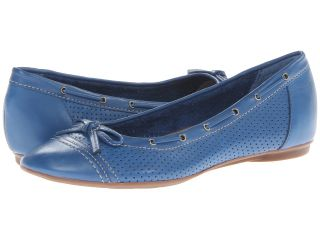 Clarks Poem Cottage Womens Flat Shoes (Blue)