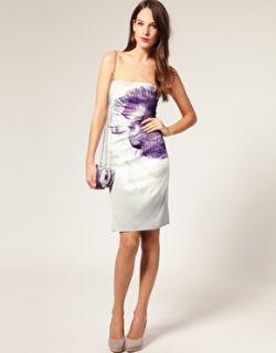 Karen Millen  Vestido estilo palabra de honor con flor extragrande de Karen Millen en