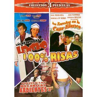 100% Risas: Las Aventuras De Lencho / Los Enredos En La Casa Blanca / Vuelven Los Mecanicos Ardientes 2 (3 Peliculas) (Spanish): Movies