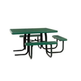 Ultra Play 46 in. x 55 in. Diamond Green Commercial Park Surface Mount and Portable ADA Square Table PBK358H VG