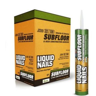 Liquid Nails 10 fl. oz. Subfloor and Deck Construction Adhesive (24 Pack) LN 902 CP