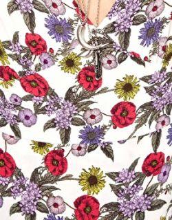 Vestido largo con estampado floral y escote en V de en
