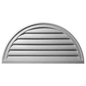 Ekena 2 in. x 48 in. x 24 in. Functional Half Round Gable Louver Vent GVHR48F