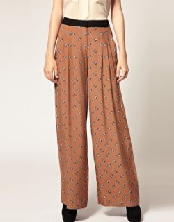 River Island  River Island Small Floral Print Palazzo Trousers