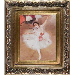 10 in. x 8 in. Star Dancer (on Stage) Hand Painted Vintage Artwork DG1119 FR 21538X10
