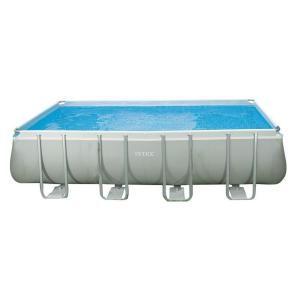 Intex 18 ft. x 9 ft. x 52 in. Rectangular Ultra Frame Pool Set 28351EG