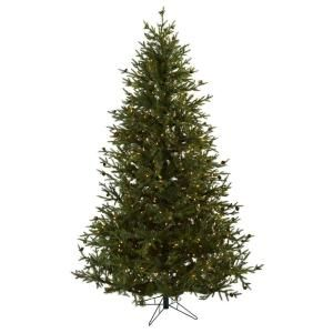 Nearly Natural 7.5 ft. Classic Pine and Pine Cone Christmas Tree 5373