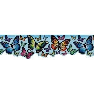 Brewster 6 in. Magic Blue Butterfly Border 443B97626